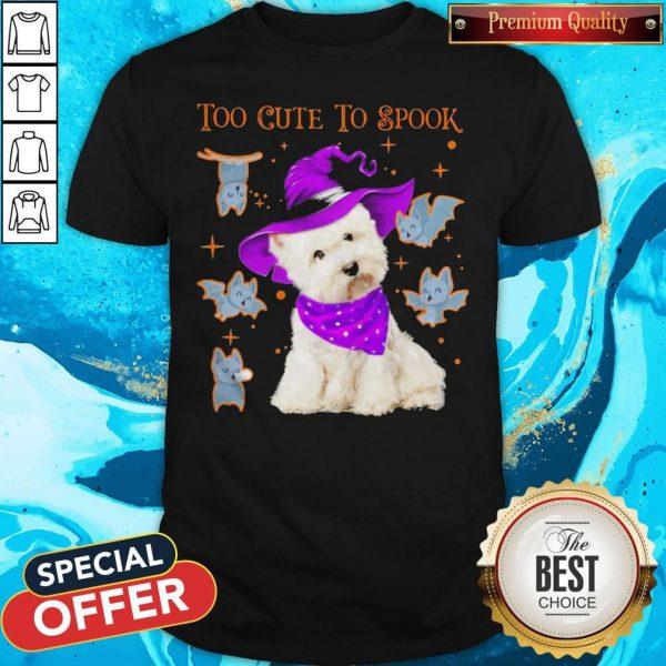 Awesome Maltese Dog Too Cute To Spook Halloween Shirt
