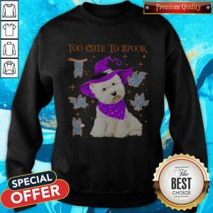 Awesome Maltese Dog Too Cute To Spook Halloween Sweatshirt