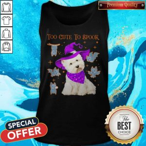 Awesome Maltese Dog Too Cute To Spook Halloween Tank Top