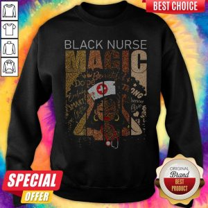 Premium Black Nurse Magic Sweatshirt