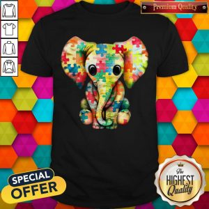Premium Elephant Autism World Autism Awareness Day Gift Shirt