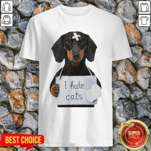 Cute Dachshund Dog I Hate Cats Shir