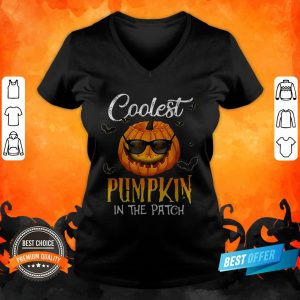 Coolest Pumpkin In The Patch Halloween Costume Gift V Neck