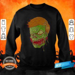 Halloween Angry Zombie Face Sweatshirt