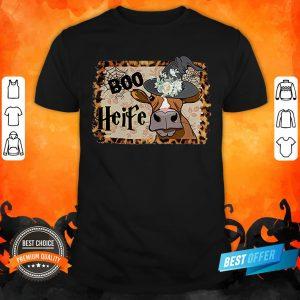 Halloween Boo Heifer Lover Gift T-Shirt