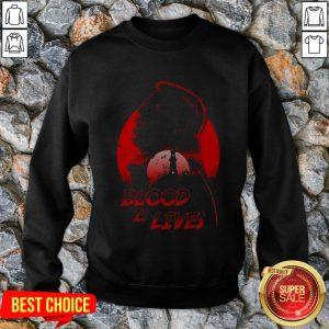 Halloween Dracula Blood Is Lives Sweatshirt