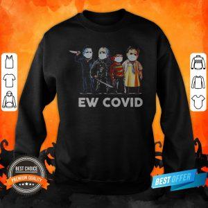 Halloween Horror Characters Mask Ew Covid 19 Sweatshirt