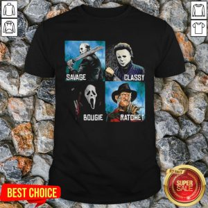 Halloween Horror Characters Savage Classy Bougie Ratchet Shirt