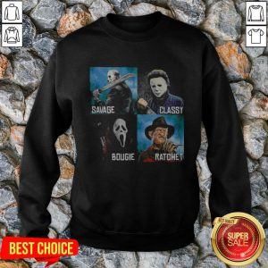 Halloween Horror Characters Savage Classy Bougie Ratchet Sweatshirt