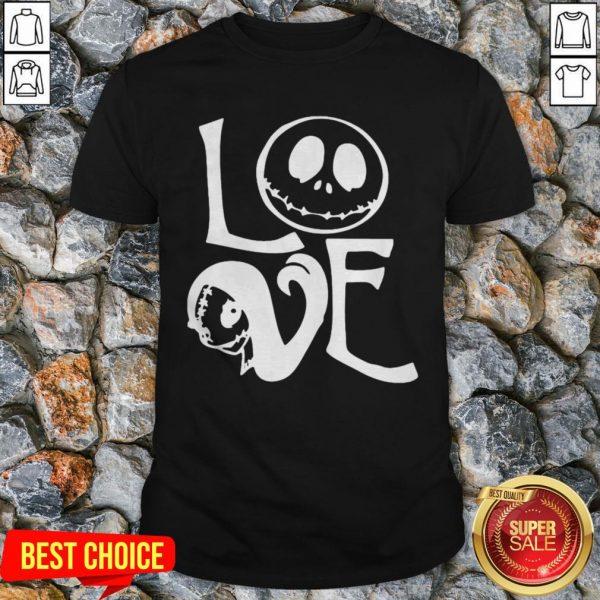 Halloween Love Jack Skellington Shirt