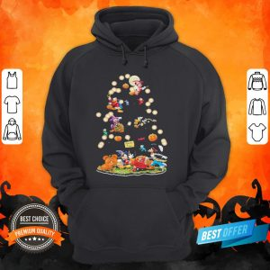 Halloween Tree Mickey Mouse Cartoon Characters Hoodie