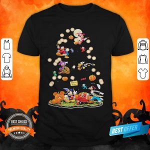 Halloween Tree Mickey Mouse Cartoon Characters Shirt