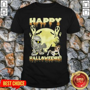 Happy Halloweenie Ghost Dog Shirt
