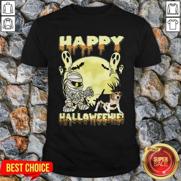 Happy Halloweenie Ghost Dog Shirt