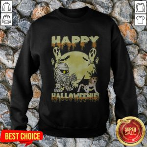 Happy Halloweenie Ghost Dog Sweatshirt