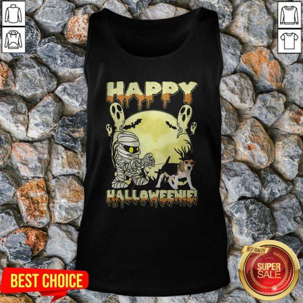 Happy Halloweenie Ghost Dog Tank Top