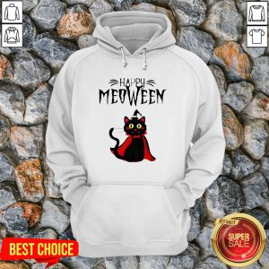 Happy Meoween Black Cat Halloween Hoodie