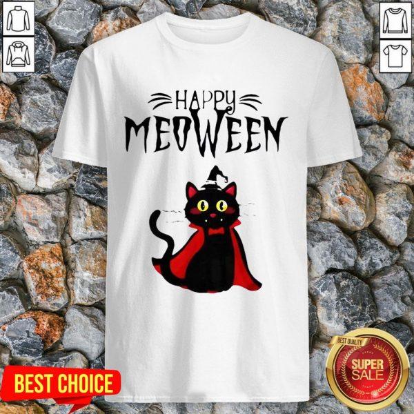 Happy Meoween Black Cat Halloween Shirt