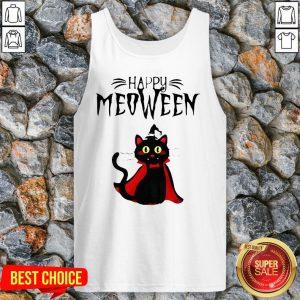 Happy Meoween Black Cat Halloween Tank Top