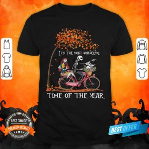 Jack Skellington Sally And Zero It's The Most Wonderful Time Of The Year Halloween Shirt