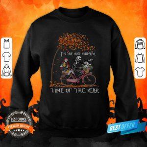 Jack Skellington Sally And Zero It's The Most Wonderful Time Of The Year Halloween Sweatshirt