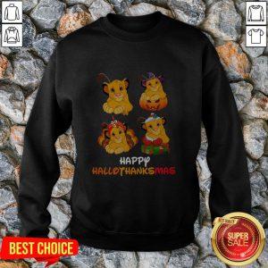 Lion King Simba Happy Hallothanksmas Sweatshirt