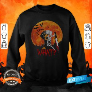 Michael Myer Dachshund Skeleton What Halloween Sweatshirt