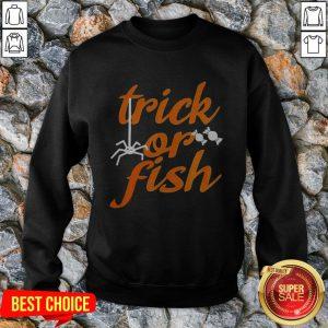 Nice Trick Or Fish Halloween Sweatshirt