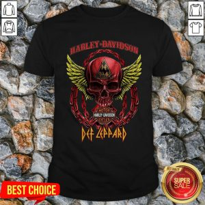 Skull Harley Davidson Motorcycles Def Leppard Shirt