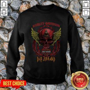 Skull Harley Davidson Motorcycles Def Leppard Sweatshirt