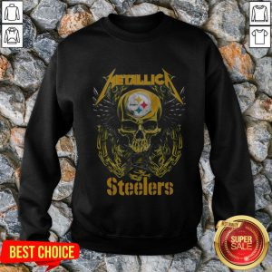 Skull Metallic Steelers Pittsburgh Halloween Sweatshirt