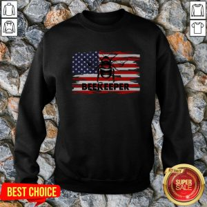 Vip Patriotic Beekeeper American Flag 4th Of July Gift Bee Sweatshirt