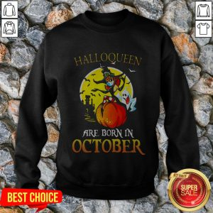 Witch Mask Are Born In October Halloween Sweatshirt