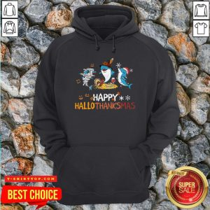 Baby Shark Halloween And Merry Christmas Happy Hallothanksmas Hoodie