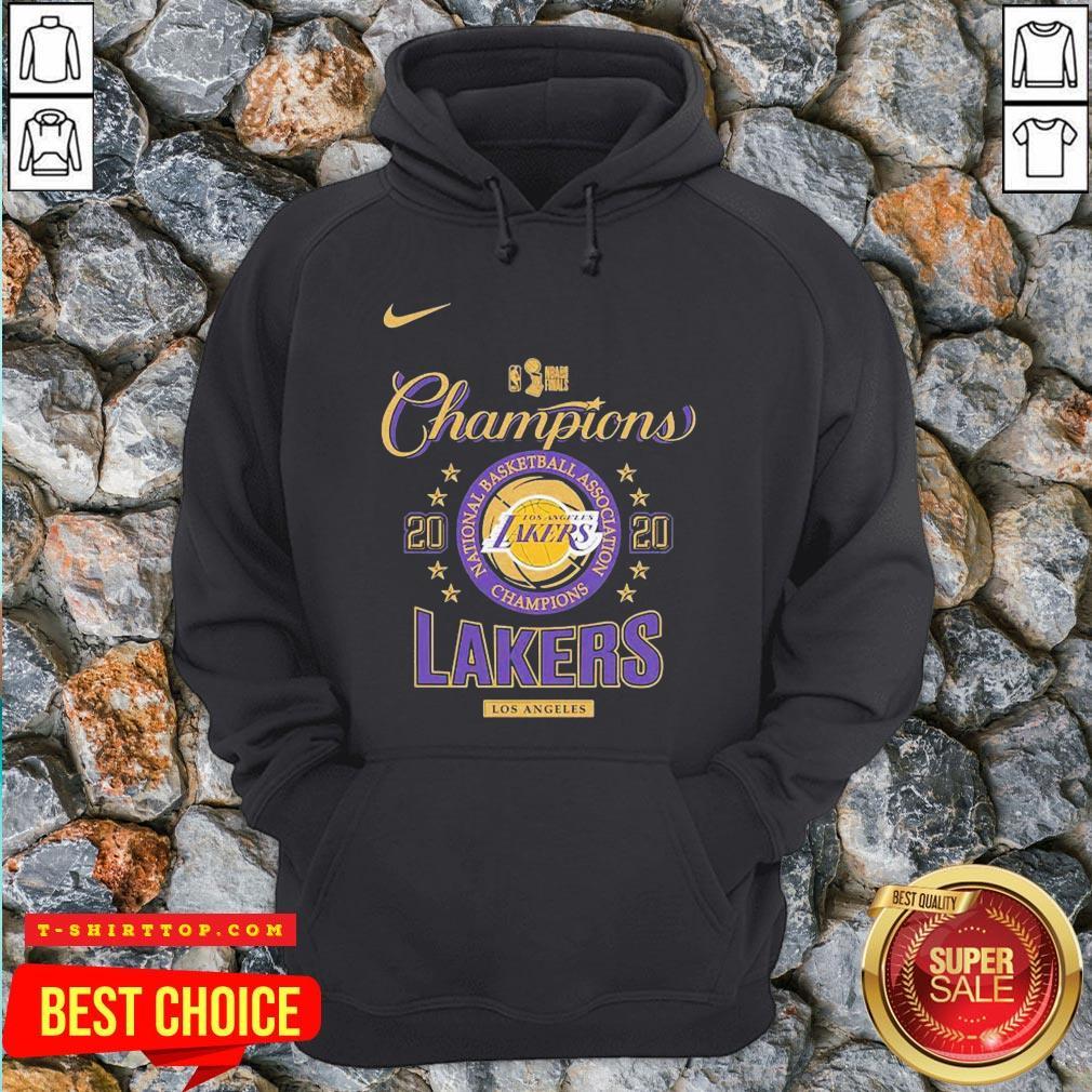 Los Angeles Lakers Nike Toddler 2020 NBA Finals Champions Locker Room Hoodie