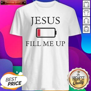Official Jesus Fill Me Up Low Battery Symbol Shirt - Design by T-ShirtTop.com