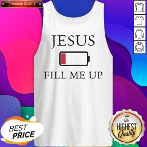 Official Jesus Fill Me - Design by T-ShirtTop.comUp Low Battery Symbol Tank Top