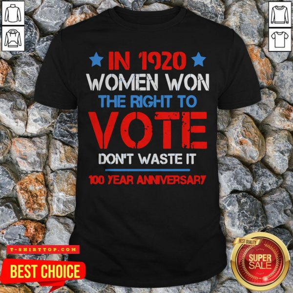 Premium The Mailman ShirtWomens In 1920 Women Won The Right To Vote Don't Waste It T-Shirt