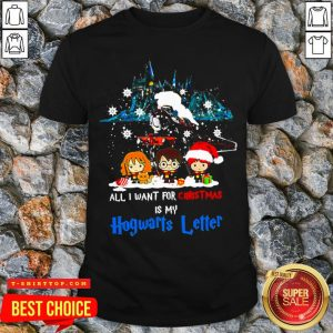 Chibi All I Want For Christmas Is Hogwarts Letter Shirt