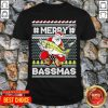 Merry Bassmas Fish Santa Ugly Christmas Shirt