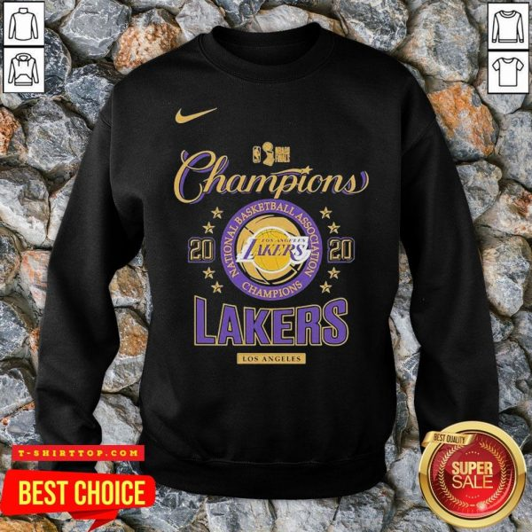 Los Angeles Lakers Nike Toddler 2020 NBA Finals Champions Locker Room SweatShirt