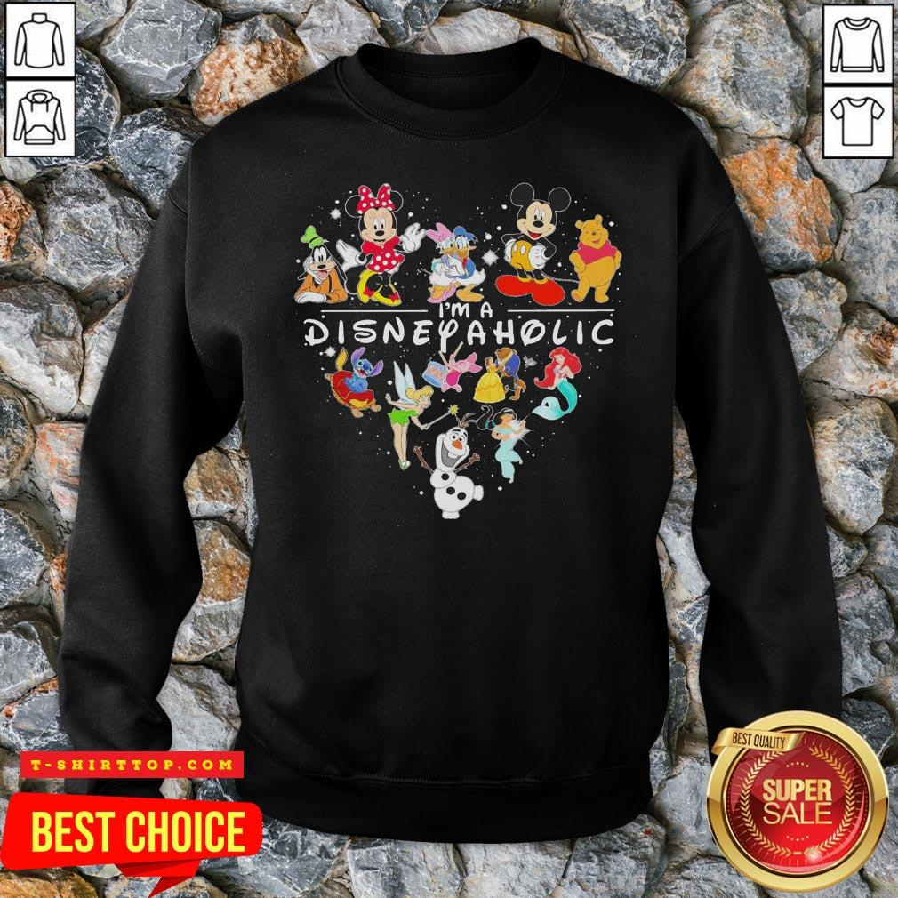 Mickey Mouse And Friend I'm A Disney Aholic Heart Sweat Shirt