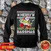 Merry Bassmas Fish Santa Ugly Christmas SweatShirt