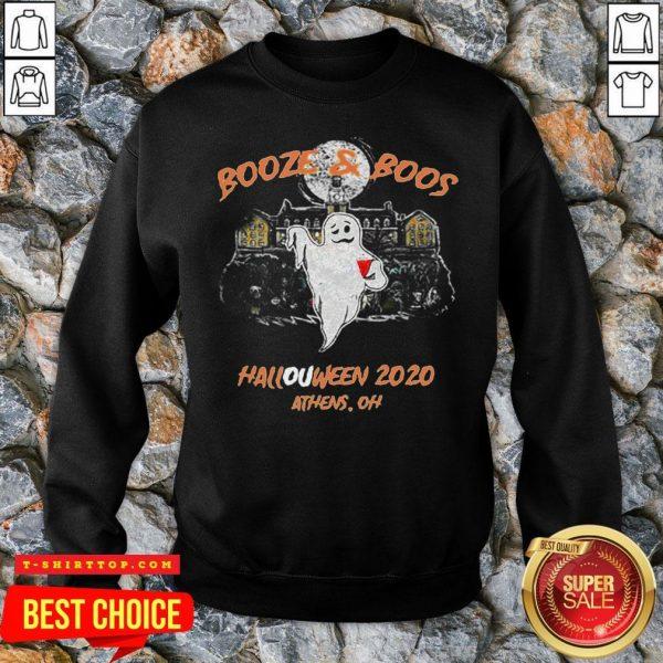Booze & Boos Halloween 2020 Athens Oh SweatShirt