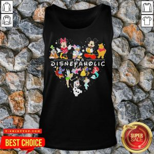 Mickey Mouse And Friend I'm A Disney Aholic Heart Tank Top