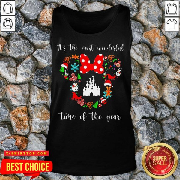 Minnie Mouse Disney It's The Most Wonderful Time Of The Year Tank Top