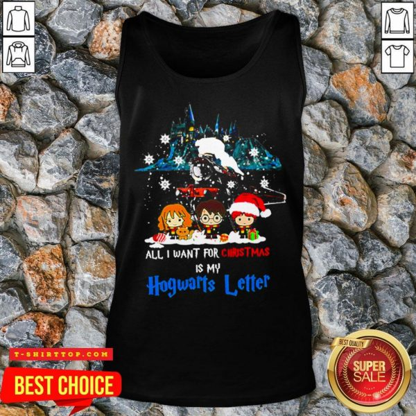 Chibi All I Want For Christmas Is Hogwarts Letter Tank Top
