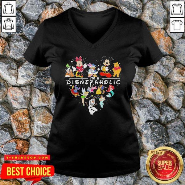 Mickey Mouse And Friend I'm A Disney Aholic Heart V-neck