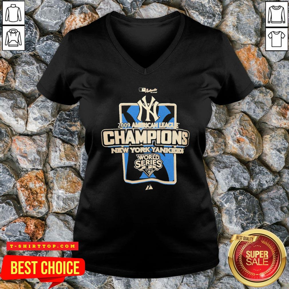 New York Yankees MLB 2009 Champions NYC V-neck
