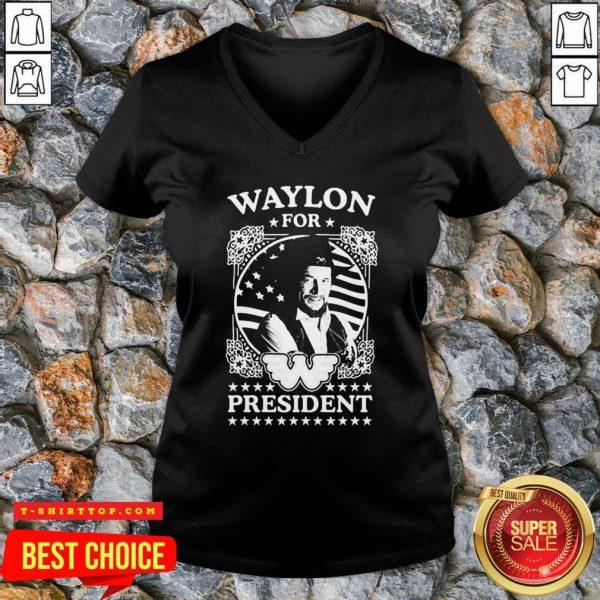 Awesome Waylon For President Us Flag V-neck